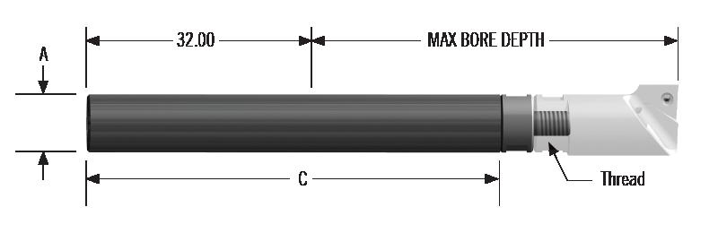 Boring Bar Sleeve 40mm Diameter 10mm Bore